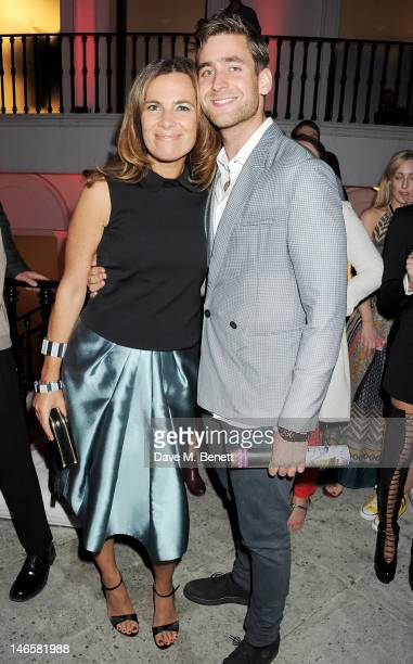 Roberta Armani and Oliver JacksonCohen attend as EA7 Emporio Armani Summer Garden Live presents Summer of Sport at Emporio Armani on June 19 2012 in...