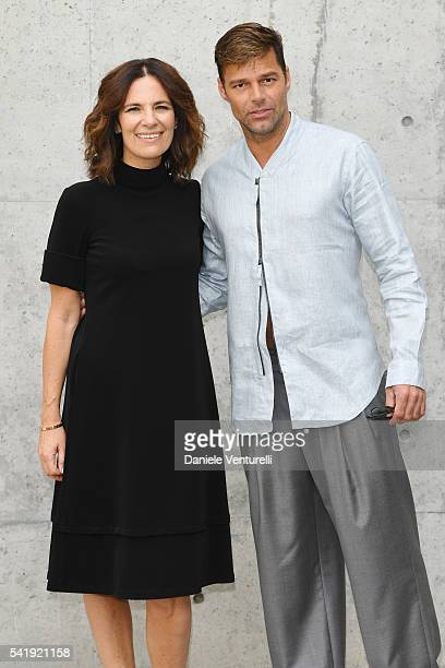 Roberta Armani and Ricky Martin attend the Giorgio Armani show during Milan Men's Fashion Week SS17 on June 21 2016 in Milan Italy