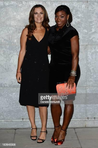 Roberta Armani and Serena Williams attend the Giorgio Armani Spring/Summer 2013 fashion show as part of Milan Womenswear Fashion Week on September 23...
