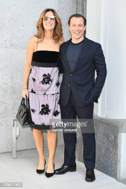 Roberta Armani and Stefano Accorsi arrive the Giorgio Armani show during Milan Fashion Week Spring/Summer 2019 on September 23 2018 in Milan Italy