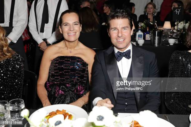 Roberta Armani and Tom Cruise attend the VIP dinner at The Fashion Awards 2019 held at Royal Albert Hall on December 02 2019 in London England