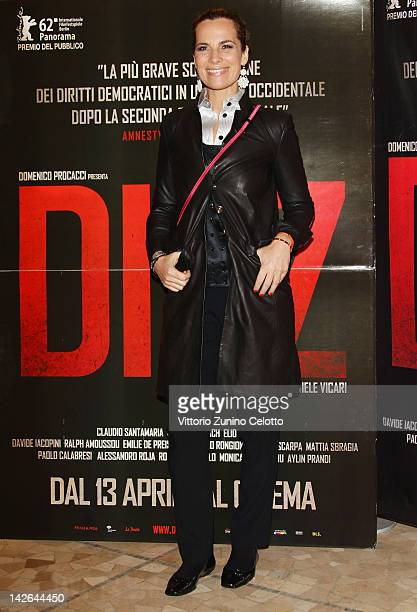 Roberta Armani attends 'Diaz Don't Clean Up This Blood' premiere on April 10 2012 in Milan Italy