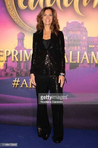 Roberta Armani attends the Aladdin photocall and red carpet at The Space Cinema Odeon on May 15 2019 in Milan Italy