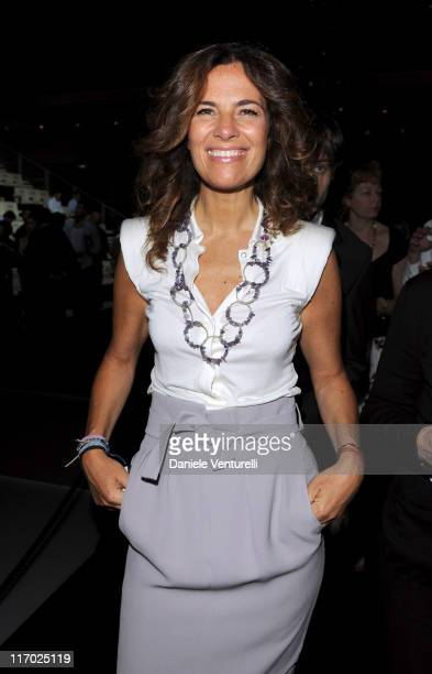 Roberta Armani attends the Emporio Armani fashion show as part of Milan Fashion Week Menswear Spring/Summer 2012 on June 19, 2011 in Milan, Italy.