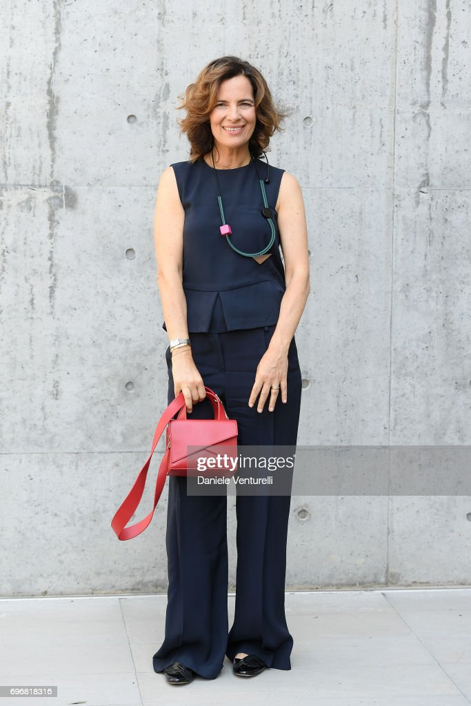 Roberta Armani attends the Emporio Armani show during Milan Men's Fashion Week Spring/Summer 2018 on June 17, 2017 in Milan, Italy.