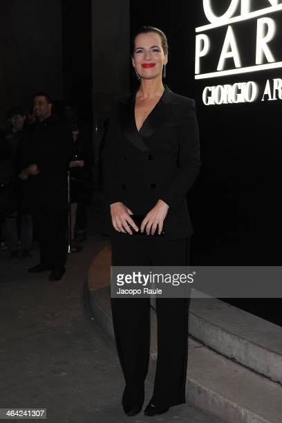 Roberta Armani attends the Giorgio Armani Prive show as part of Paris Fashion Week Haute Couture Spring/Summer 2014 on January 21 2014 in Paris France