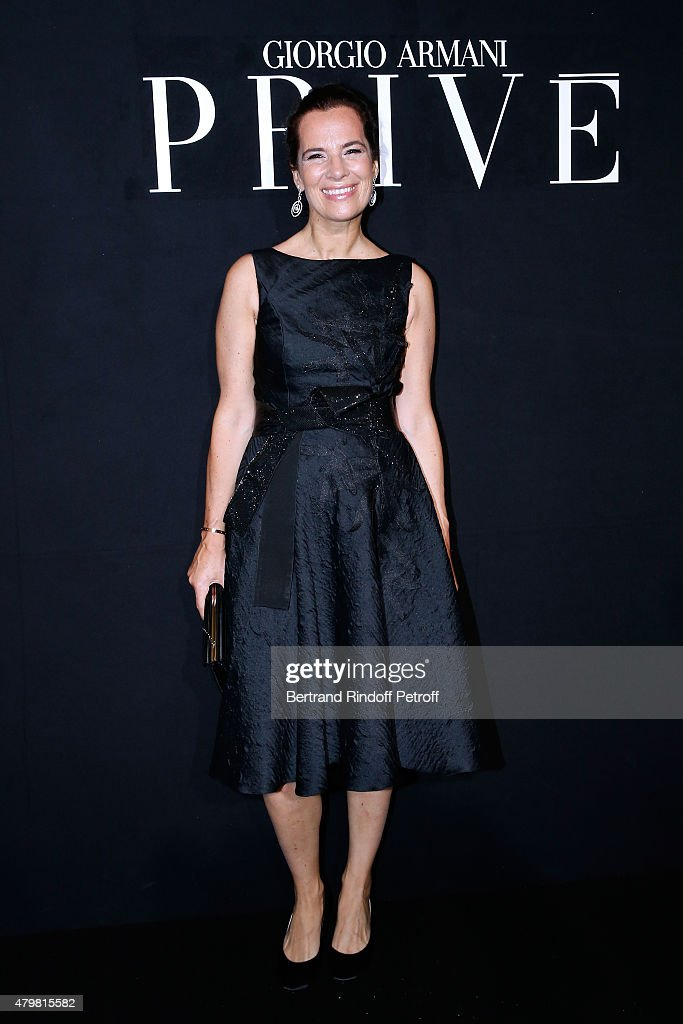 Roberta Armani attends the Giorgio Armani Prive show as part of Paris Fashion Week Haute-Couture Fall/Winter 2015/2016. Held at Palais de Chaillot on July 7, 2015 in Paris, France.
