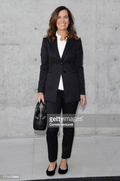 Roberta Armani attends the Giorgio Armani show during Milan Menswear Fashion Week Spring Summer 2014 on June 25 2013 in Milan Italy