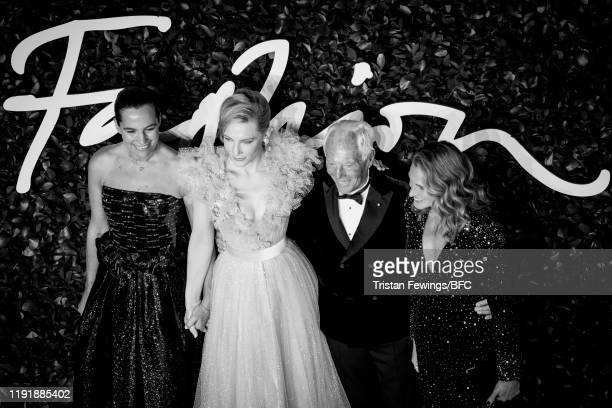 Roberta Armani Cate Blanchett Giorgio Armani and Julia Roberts arrive at The Fashion Awards 2019 held at Royal Albert Hall on December 02 2019 in...