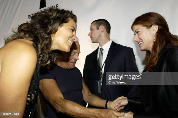 Roberta Armani Giorgio Armani and Debra Messing during Giorgio Armani Receives The First Rodeo Drive Walk Of Style Award Arrivals at Rodeo Drive Walk...
