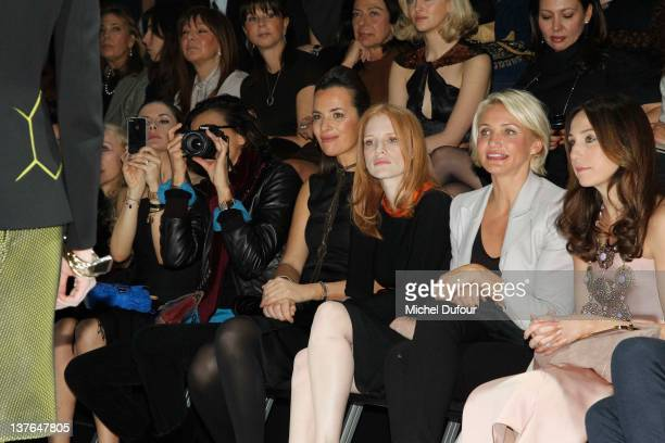 Roberta Armani Jessica Chastain Cameron Diaz Elsa Zylberstein and Julie Gayet attend the Giorgio Armani Prive HauteCouture Spring / Summer 2012 show...