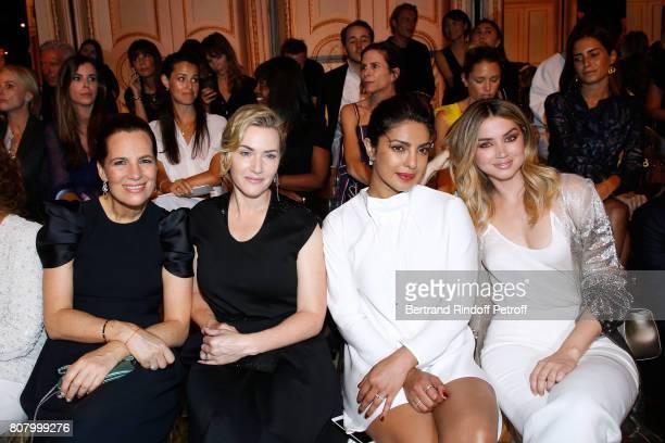 Roberta Armani Kate Winslet Priyanka Chopra and Ana de Armas attend the Giorgio Armani Prive Haute Couture Fall/Winter 20172018 show as part of Haute...