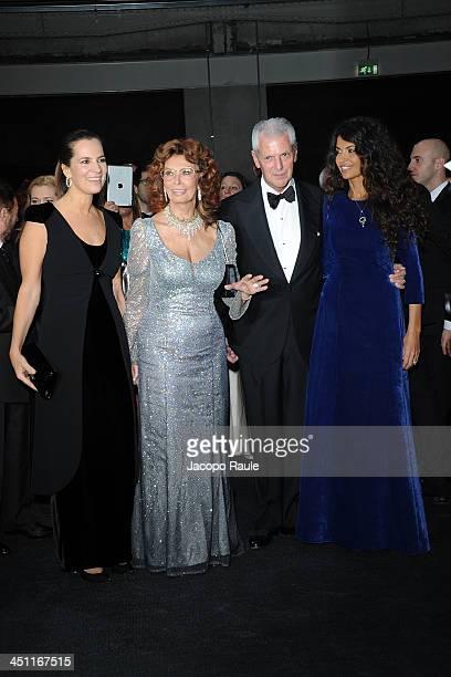 Roberta Armani Sophia Loren Marco Tronchetti Provera and Afef Jnifen attend The Pirelli Calendar 50th Anniversary Red Carpet on November 21 2013 in...
