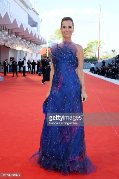 """Roberta Armani walks the red carpet ahead of the Opening Ceremony and the """"Lacci"""" red carpet during the 77th Venice Film Festival at on September 02,..."""
