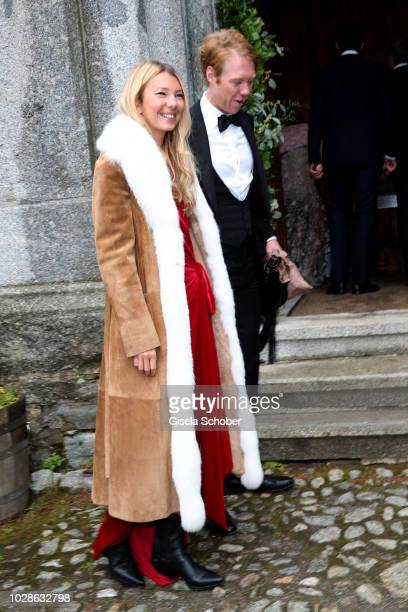 Roberta Benteler and her boyfriend John Glass during the wedding of Prince Konstantin of Bavaria and Princess Deniz of Bavaria born Kaya at the...