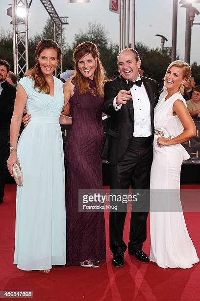 Roberta Bieling, Miriam Lange, Wolfram Kons and Jennifer Knaeble attend the red carpet of the Deutscher Fernsehpreis 2014 on October 02, 2014 in...