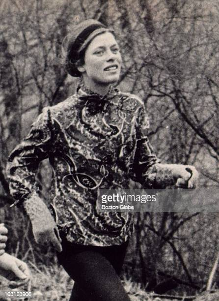 Roberta 'Bobbi' Gibb runs in the Boston Marathon April 19 1967