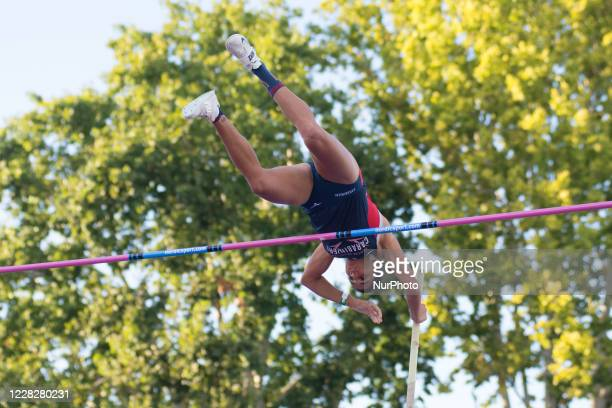 Roberta Bruni competesin the Women's high jump final during the Italian National Athletics Championships at Daciano Colbachini Stadium on August 30,...