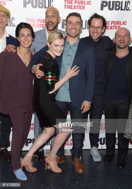 Roberta Colindrez KeeganMichael Key Gayle Rankin Oscar Isaac Sam Gold and Anatol Yusef attend 'Hamlet' Opening Night at The Public Theater on July 13...