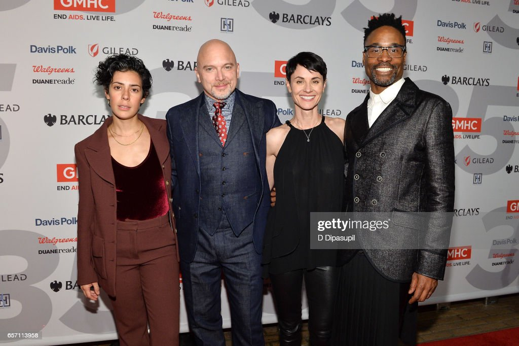 Roberta Colindrez, Michael Cerveris, Beth Malone, and Billy Porter attend the GMHC 35th Anniversary Spring Gala at Highline Stages on March 23, 2017 in New York City.