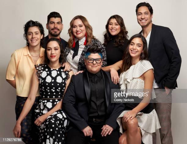Roberta Colindrez Raul Castillo Tanya Saracho Chelsea Rendon and Carlos Miranda and Mishel Prada Ser Anzoategui and Melissa Barrera of Starz's 'Vida'...