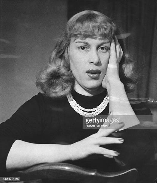 Roberta Cowell who has undergone a sex change operation to become a woman, 1954.