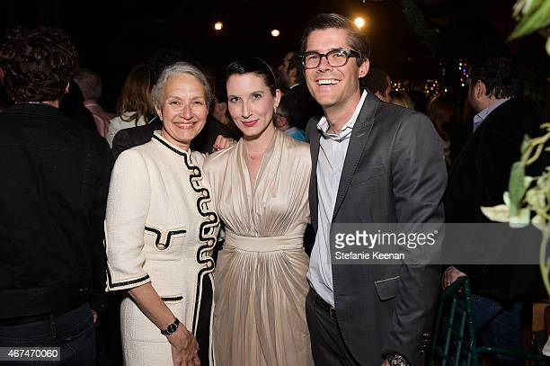 Roberta Cummings Clea Shearer and John Shearer attend The LAXART UNGALA Presented By Phillips on March 24 2015 in Los Angeles California