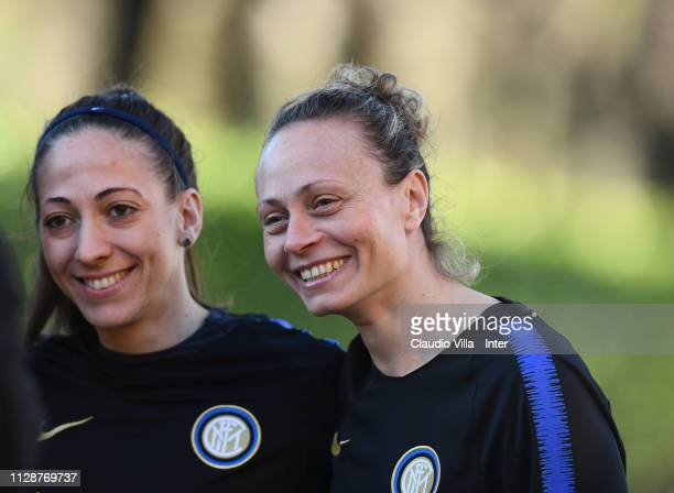 Roberta D'Adda of FC Internazionale Women smiles during a training session at Suning Youth Development Centre in memory of Giacinto Facchetti on...