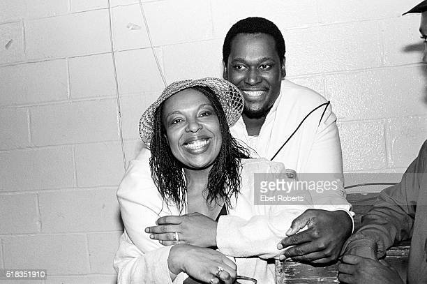 Roberta Flack and Luther Vandross backstage at Madison Square Garden in New York City on September 11 1982