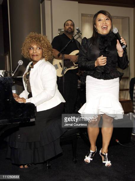 Roberta Flack and Taryn Rose during Taryn Rose Celebrates the Launch of Her Spring Line with Special Guest Roberta Flack at SAKS Fifth Avenue in New...