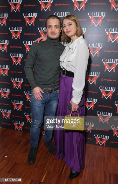 Roberta Fusco and guest attend Collini Unminimal Party Milan Fashion Week Autumn / Winter 2019/20 on February 20 2019 in Milan Italy