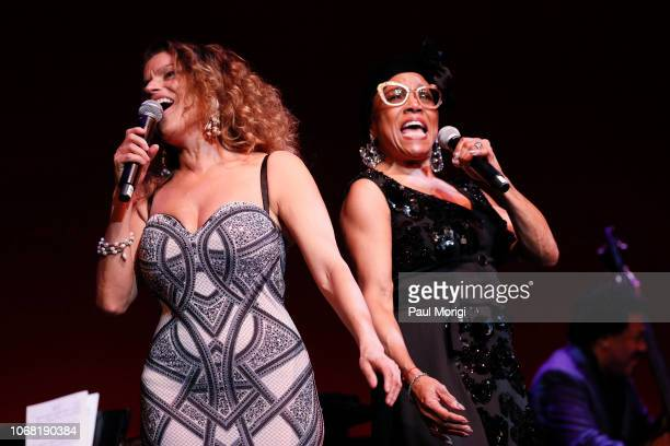Roberta Gambarini and Dee Dee Bridgewater perform during the 2018 Thelonious Monk Institute Of Jazz International Piano Competition at the Kennedy...