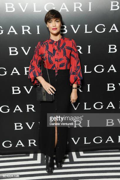 Roberta Giarrusso attends Bulgari FW 2018 Dinner Party on February 23 2018 in Milan Italy