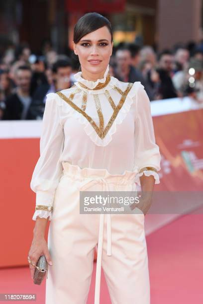 Roberta Giarrusso walks a red carpet during the 14th Rome Film Festival on October 19, 2019 in Rome, Italy.