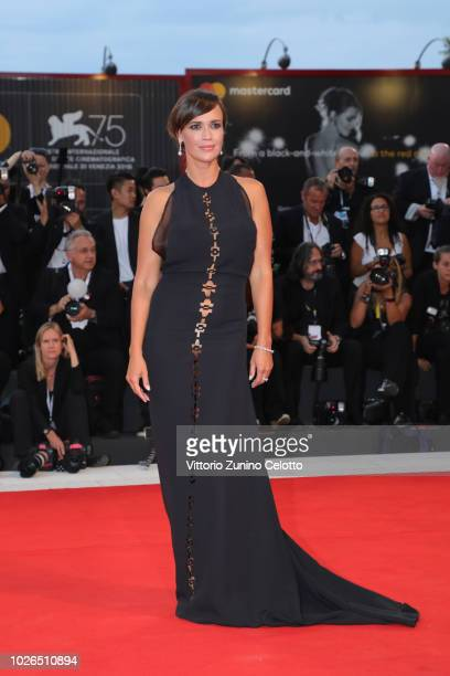 Roberta Giarrusso walks the red carpet ahead of the 'At Eternity's Gate' screening during the 75th Venice Film Festival at Sala Grande on September 3...