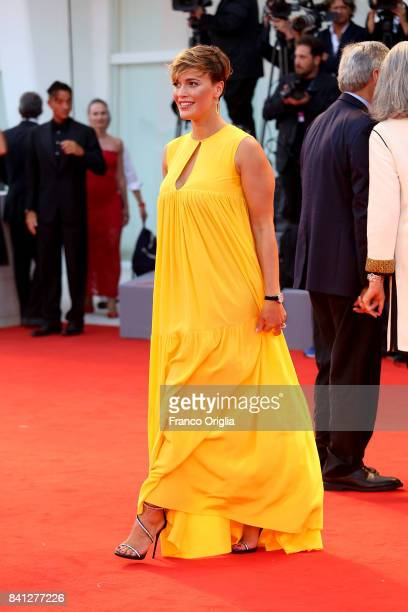Roberta Giarrusso walks the red carpet ahead of the 'The Shape Of Water' screening during the 74th Venice Film Festival at Sala Grande on August 31...