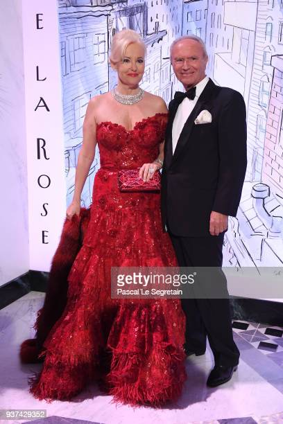 Roberta Gilardi and Donato Sestito arrive at the Rose Ball 2018 To Benefit The Princess Grace Foundation at Sporting Monte-Carlo on March 24, 2018 in...