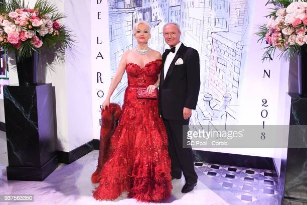 Roberta Gilardi and Donato Sestito arrive at the Rose Ball 2018 To Benefit The Princess Grace Foundation at Sporting MonteCarlo on March 24 2018 in...