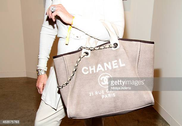 Roberta Kozloff wearing Brunello Cucinelli and a Chanel bag attends Art Basel Miami Beach 2013 at the Miami Beach Convention Center on December 4...