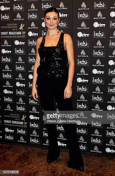 Roberta Lanfranchi attends the Fondazione Stefano Borgonovo Charity Event held at Spazio Antologico on November 30, 2010 in Milan, Italy.