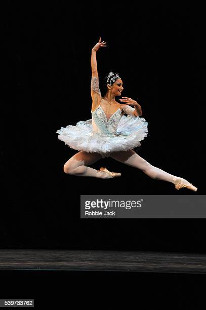Roberta Marquez performs in the Royal Ballet's production of George Balanchine's Theme And Variations at the Royal Opera House Covent Garden in London