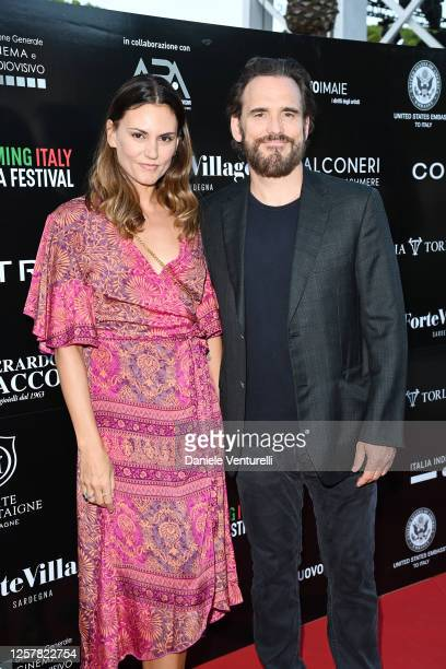Roberta Mastromichele and Matt Dillon attend the second day of Filming Italy Sardegna Festival 2020 at Forte Village Resort on July 23 2020 in...