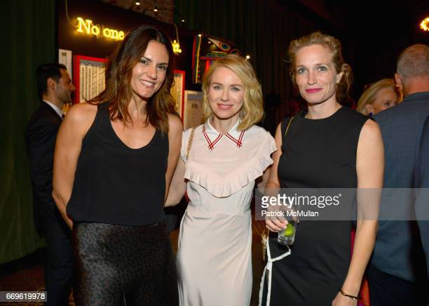 Roberta Mastromichele Naomi Watts and Alexis Bloom attend The Turtle Conservancy's 4th Annual Turtle Ball at The Bowery Hotel on April 17 2017 in New...