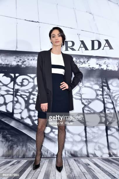 Roberta Mattei attends the cocktail reception to present Prada Resort 2018 collection on December 14th 2017 in Prada's Via dei Condotti stores Rome