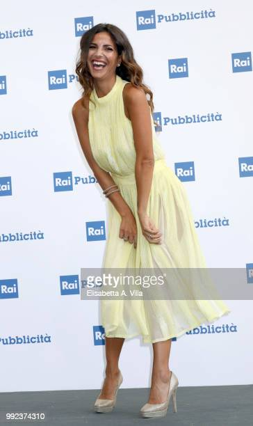 Roberta Morise attends the Rai Show Schedule presentation on July 5 2018 in Rome Italy