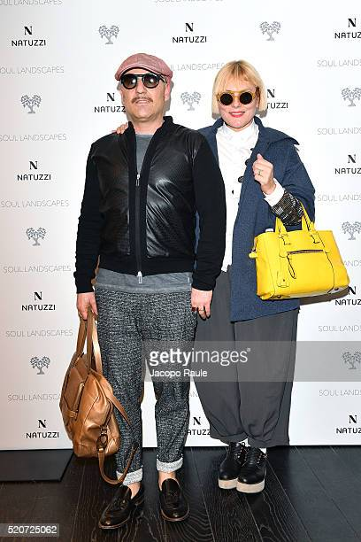 Roberta Murr and Antonio Murr attend Natuzzi Soul Landscapes on April 12, 2016 in Milan, Italy.