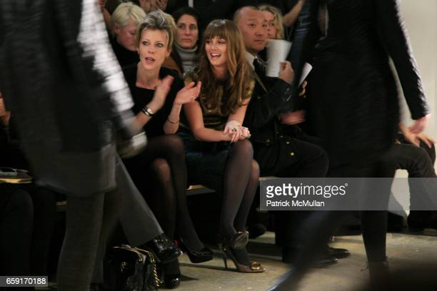 Roberta Myers Leighton Meester and Joe Zee attend PROENZA SCHOULER Fall 2009 Collection at 508 WEST 26TH STREET on February 18 2009 in New York City