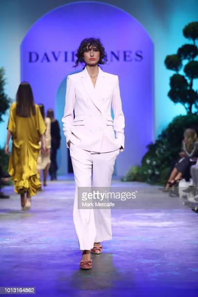 Roberta Pecoraro showcases designs by Vestire during the David Jones Spring Summer 18 Collections Launch at Fox Studios on August 8 2018 in Sydney...