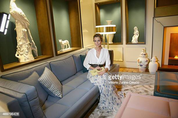 Roberta Ruiu attends the Meissen Couture Home Collection Presentation during Design Week on April 14 2015 in Milan Italy