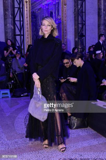 Roberta Ruiu attends the Simonetta Ravizza show during Milan Fashion Week Fall/Winter 2018/19 on February 24 2018 in Milan Italy